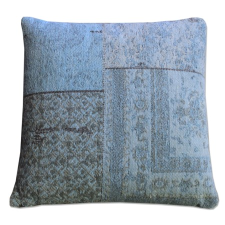 Kussen patchwork turquoise